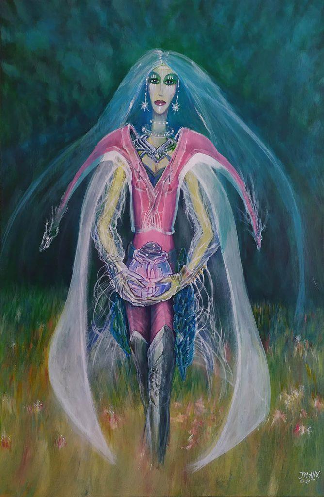 La Reine des forêts - 60 cm x 92 cm - Acrylique sur toile