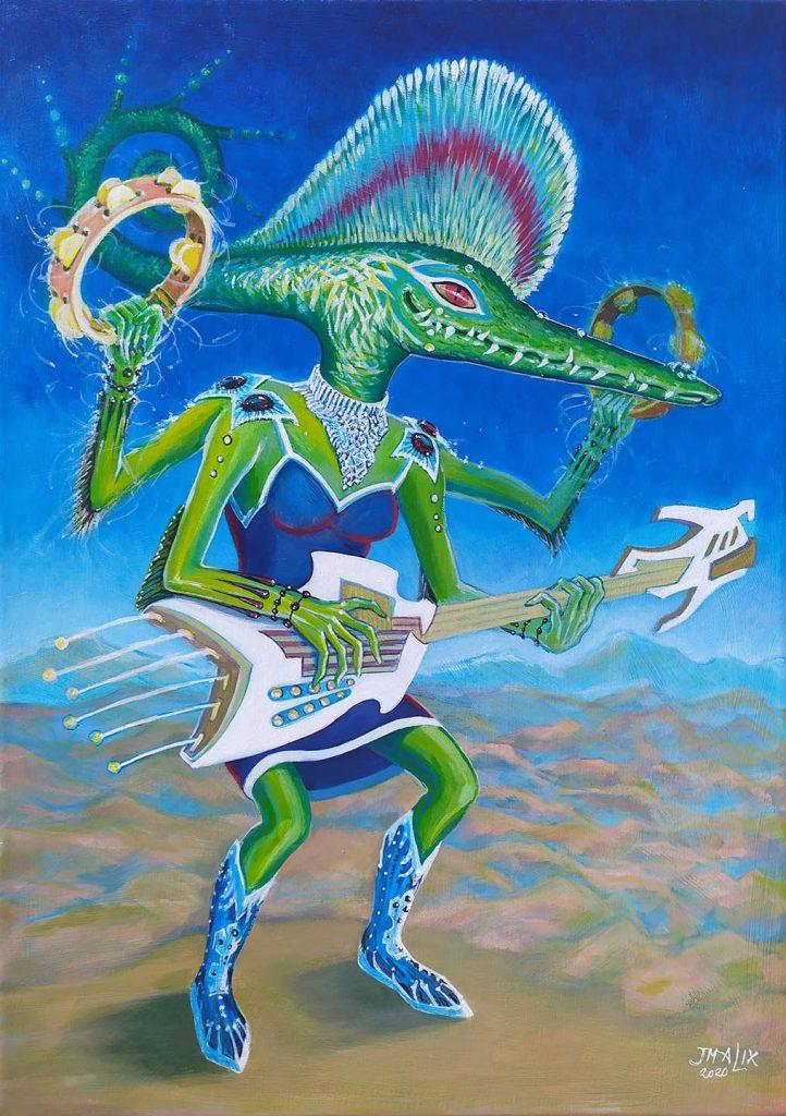 Lutemba la guitariste